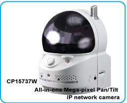 All-in-one Mega-pixel Pan/Tilt IP network camera